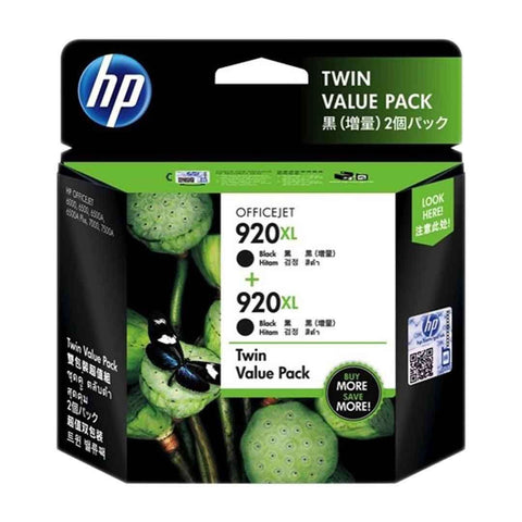 Hp Cartridge 920XL Black Twin Pack