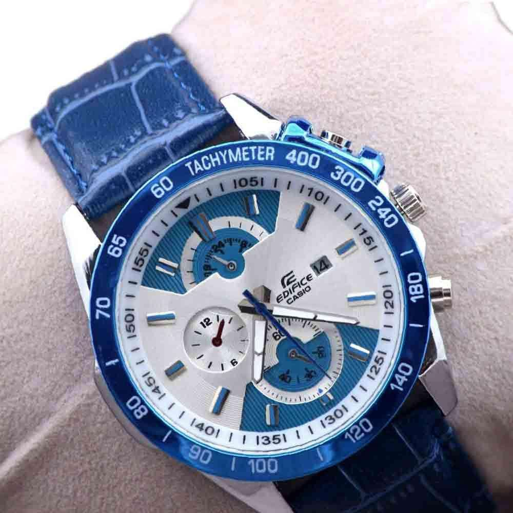 Blue Stylish Tachymeter Wrist Watch for Mens