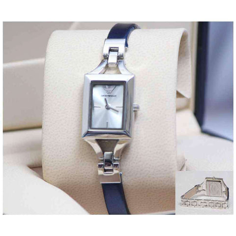Women's Blue & Silver Square Dial Wrist Watch
