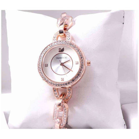 Stylish Women's Watch White Dial Round Dial