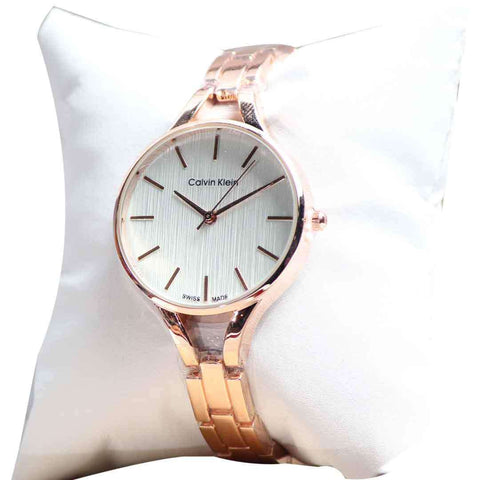 Stylish Wrist Watch Golden With White Dial