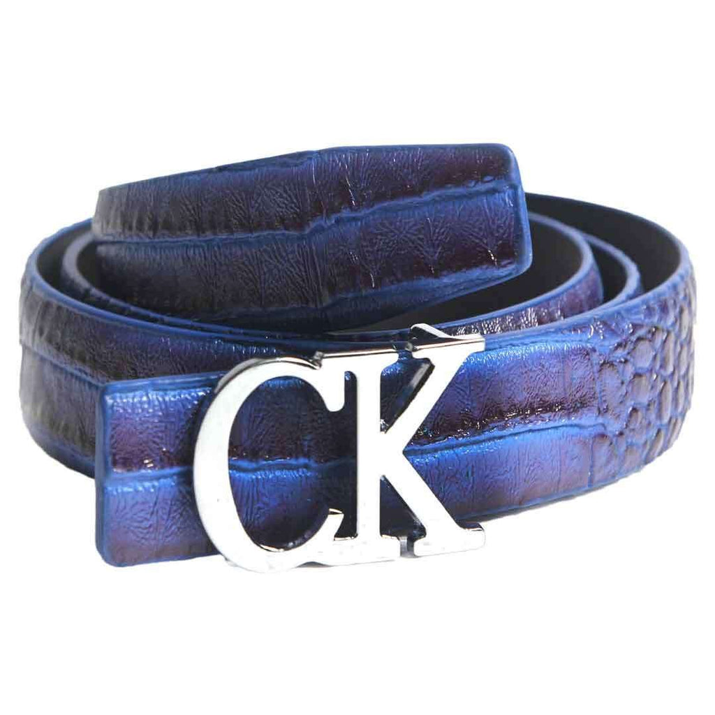 Blue & Black CK logo Belt for Men's