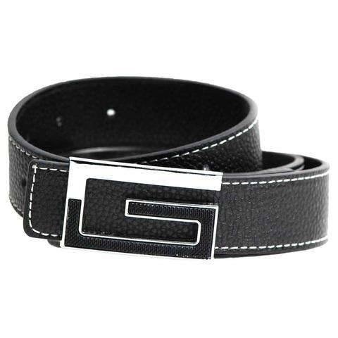 Black Leather with G logo Belt for Men's