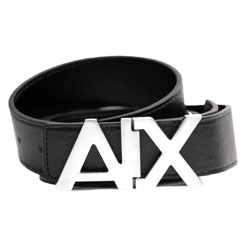 Black Canvas Belt with Metal Buckle for Men's