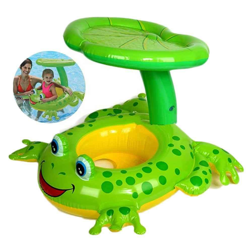 Intex Frog Baby Swim Float With Sunshade-PlanetX