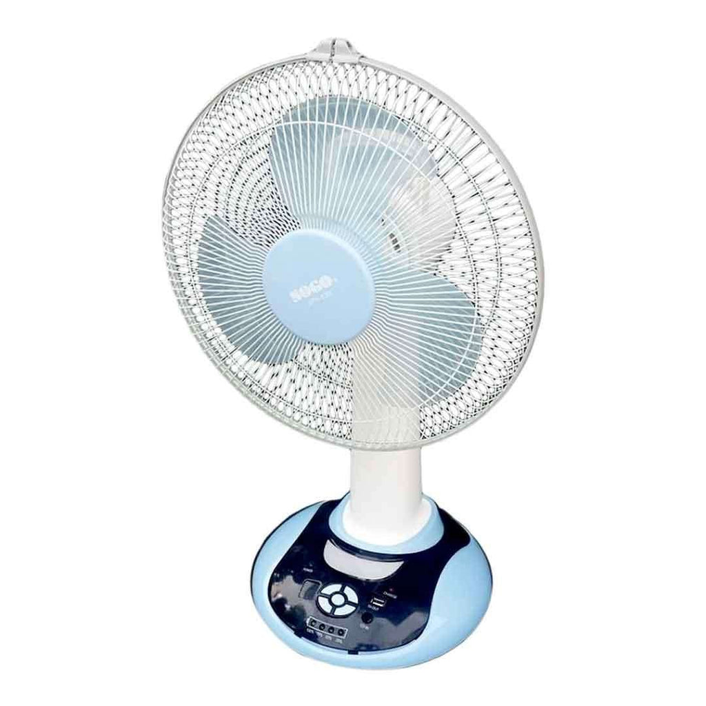 Blue Sogo Rechargeable Standing Fan JPN-630