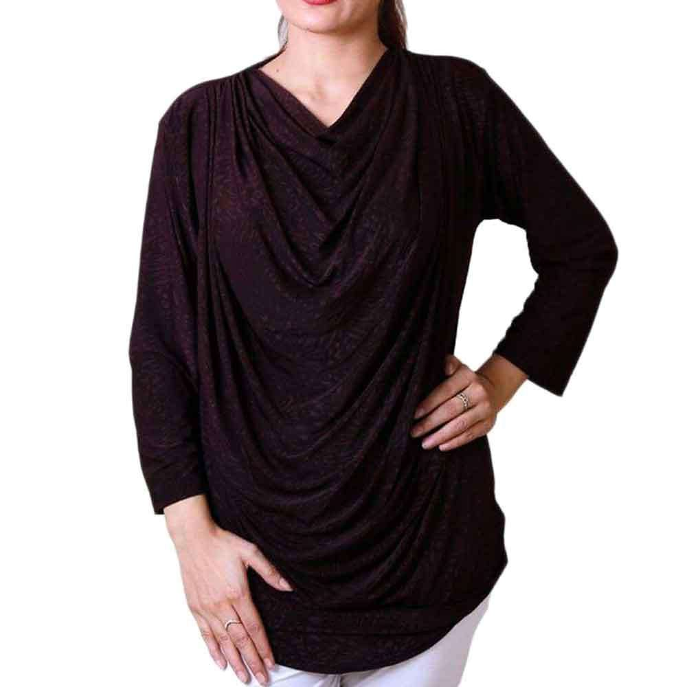 Full Sleeve Purple Jumper Stylish Top