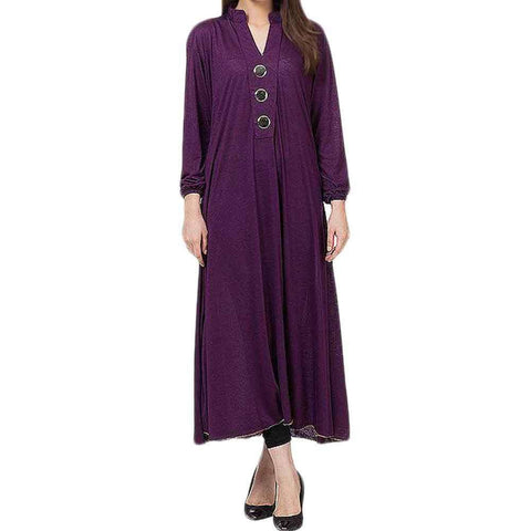 Purple Viscose Kurta For Women