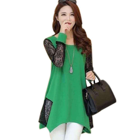 Net Stylish Top Green For Women's