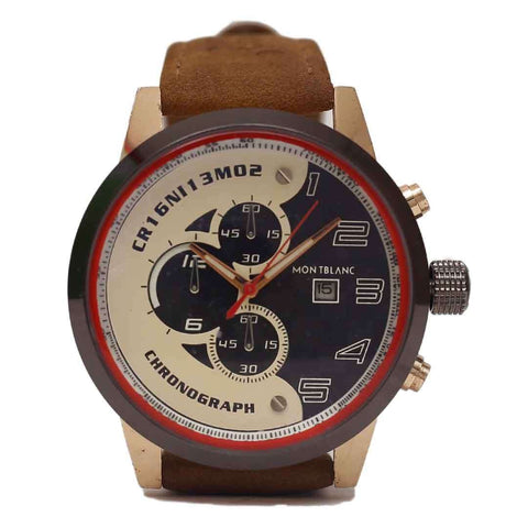 Mont Blanc Chronograph Brown Straps Watch