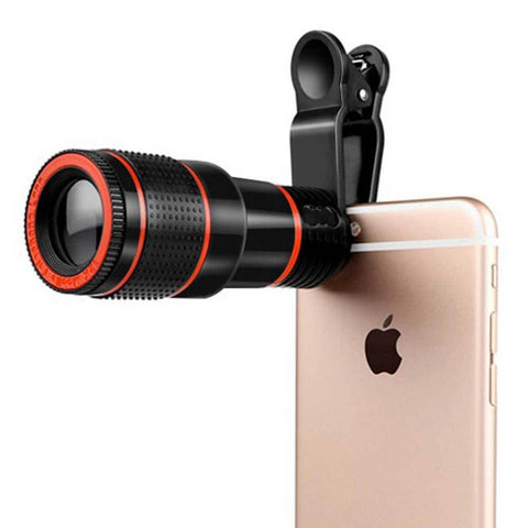 HD Mobile Phone Telephoto Lens 12X Zoom Optical Telescope