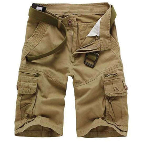 Men's Khakhi Shorts With Pocket