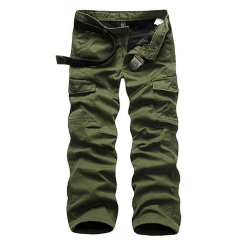 Men's 6 Pocket Green Cargo Pants