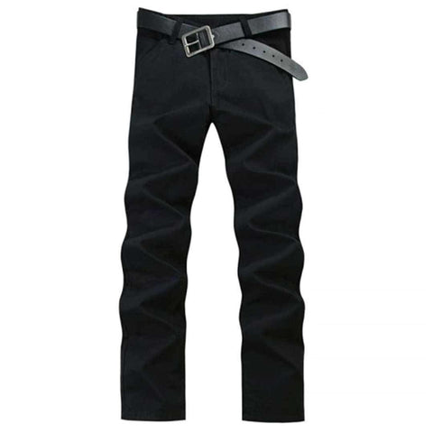 Men's Black Casual Cargo Pants