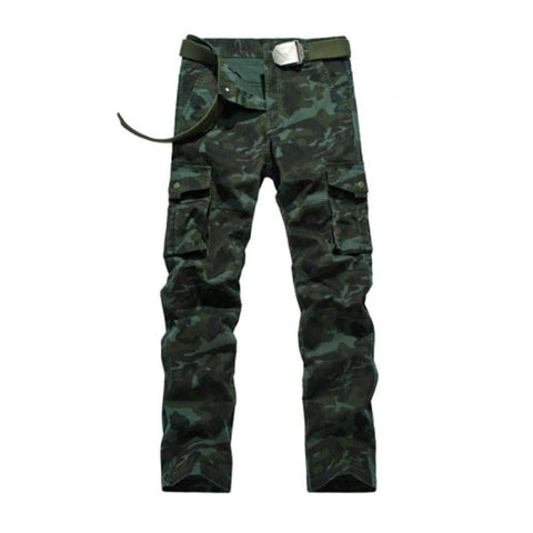 Men's Dark Green Cargo Pants