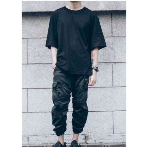 Men's Black Baggy Style Cargo Pants
