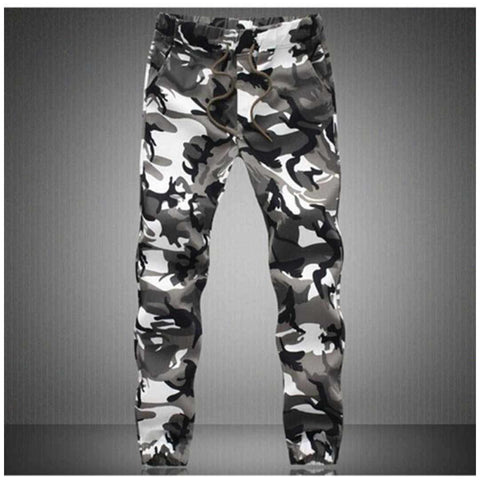 Men's Black And Grey Camo Cargo pants