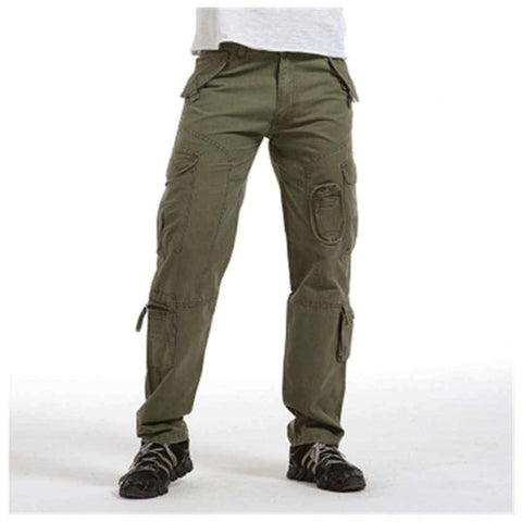 Men's 6 Pocket Olive Green Cargo Trouser