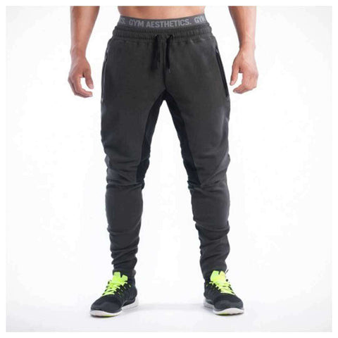 Men's Black Ribbed Trousers