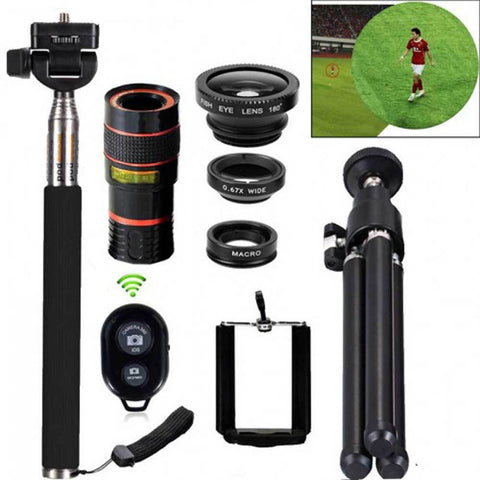 8in1 12X Zoom Camera Telephoto Lens