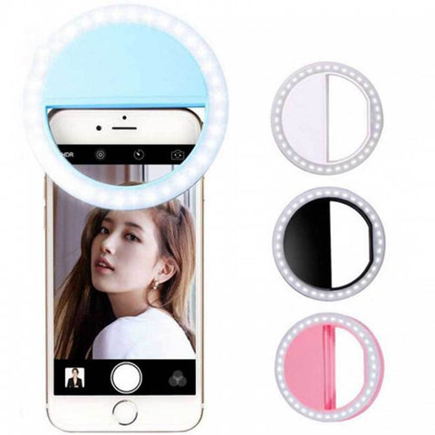 Portable Selfie Ring Flash Led Fill Light Lamp Camera
