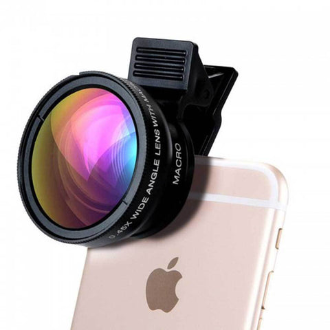 Professional HD Phone Camera Lenses 0 45X Wide Angle