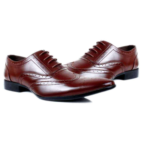 Royal Shining Brown Formal Shoes For Men