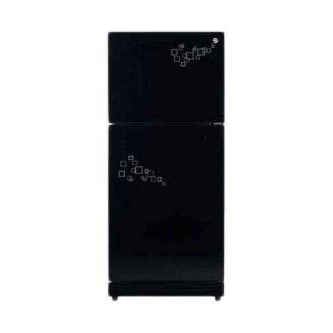 Pel Black Mirror Glass Door Refrigerator 145 Series