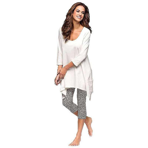 Women's Capri Pajamas White Sleepwear