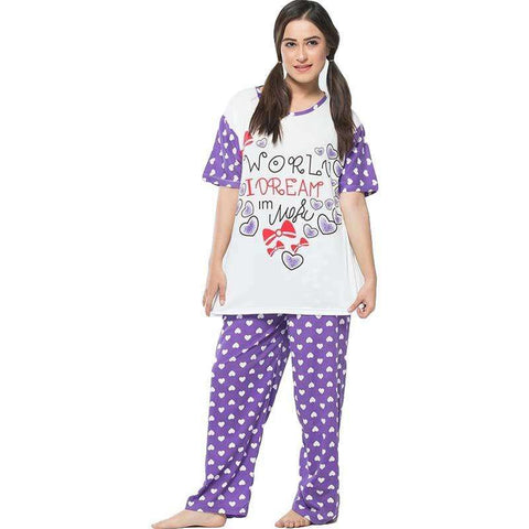 Women's Purple Pajamas Set Sleepwear