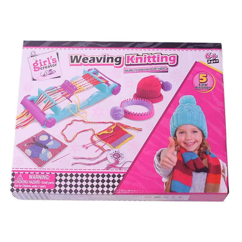Pink Knitting Machine Kit