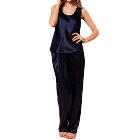 Women's Navy Blue Sando Set