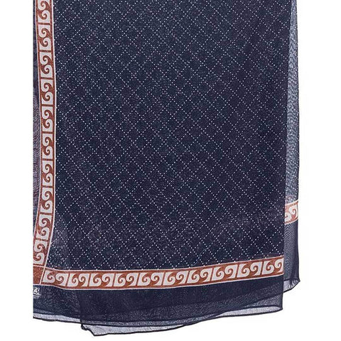Women's Swiss Lawn Blue Printed Stoles