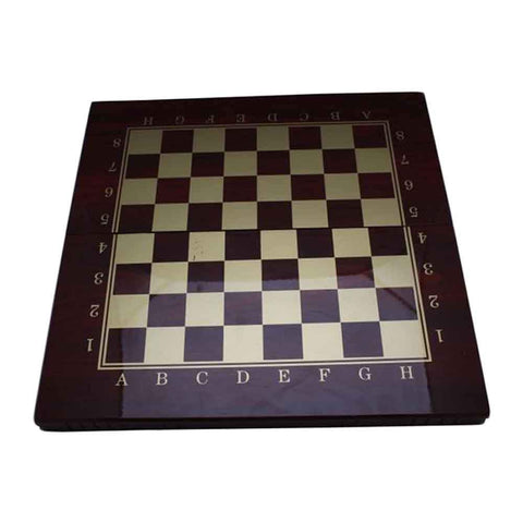 Sports City Indoor Chess & Checkers & Backgammon Game Maroon & Golden