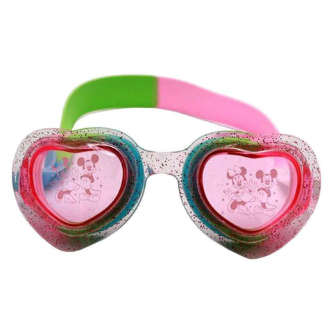 Sports City Swimming Mickey Heart shaped Goggles Green