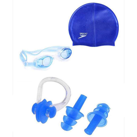 Set of Swimming Accessories for Kids Dark Blue