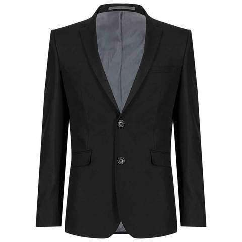 Men's Black Superslim 2 Button Jacket