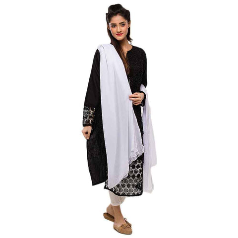Women's White Dupatta