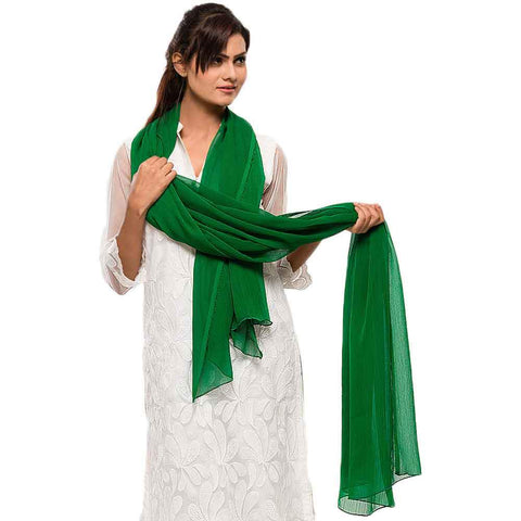 Women's Green Dupatta