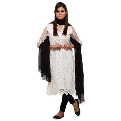 Women's Black Dupatta