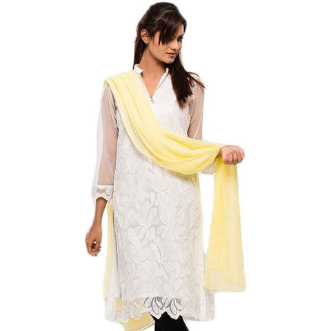 Women's Yellow Dupatta
