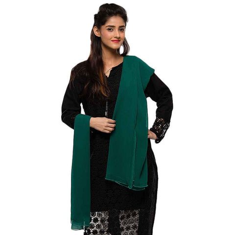 Women's Dark Green Dupatta