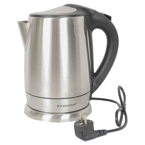 Westpoint Deluxe Cordless Kettle 1.8 Liter Silver & Black