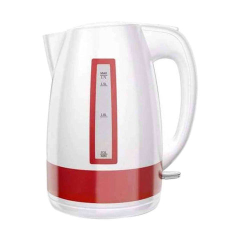 Westpoint Deluxe Cordless Kettle White & Red 1.7 Liter