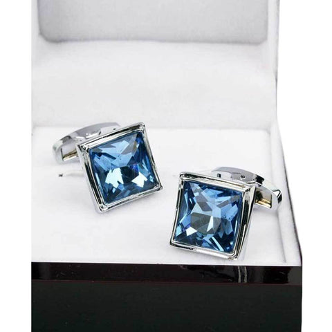 Men's Elegant Design Silver Stainless Steel Cufflinks