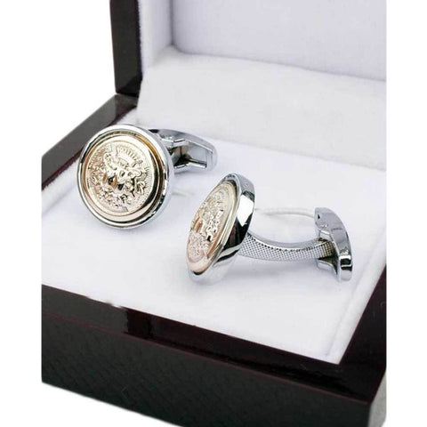 Gold Elegant Design Stainless Steel Silver Cufflinks