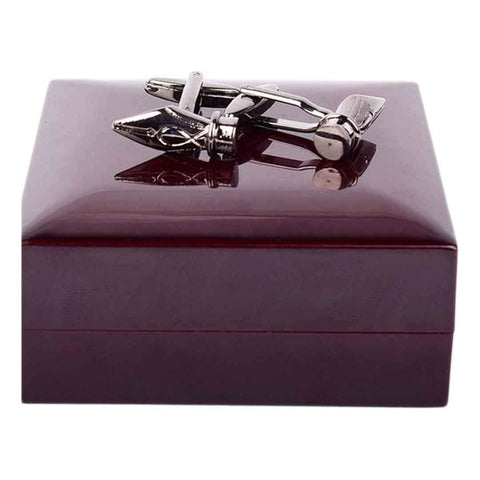 Bullet Silver Cufflinks For Men