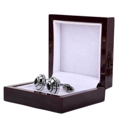 Cufflinks For Men Black And Silver