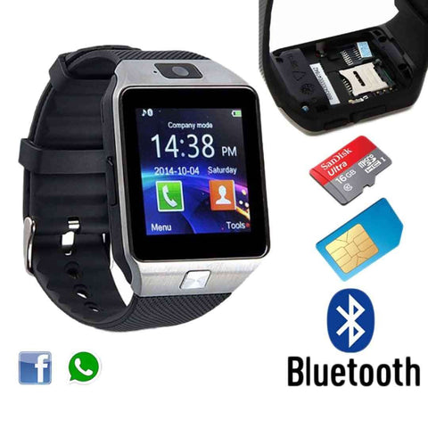 GSM Smart Watch with Sim, Memory Card & Camera