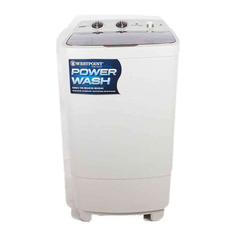Single Tub Westpoint Semi Automatic Washing Machine White